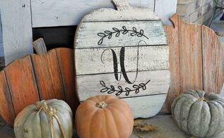 diy fence picket pumpkins