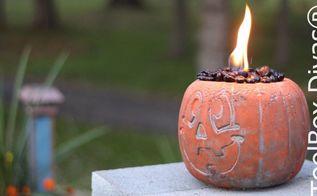 halloween pumpkin fire pit