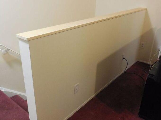 half wall at top of staircase