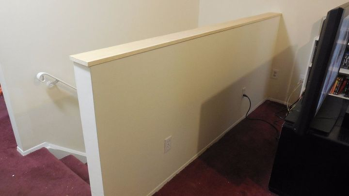 Half Wall At Top Of Staircase Hometalk