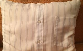 upcyle that old dress shirt into an accessory pillow cover