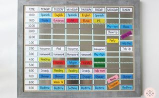 diy magnetic board schedule