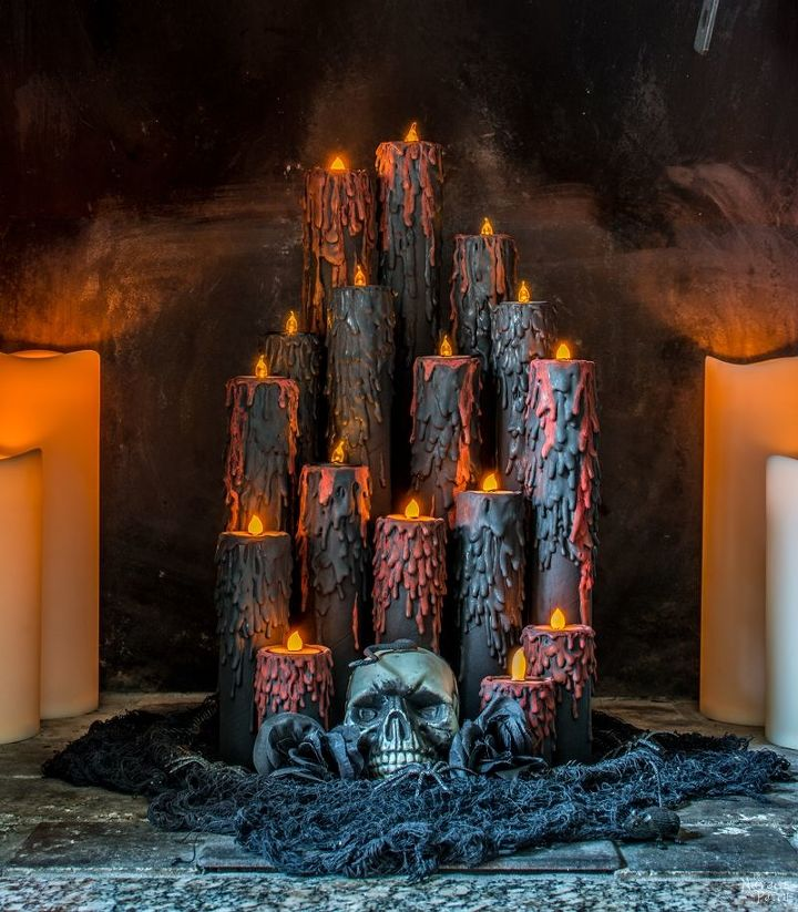 s hometalk s top 10 halloween diy s of 2017, Blood Candles