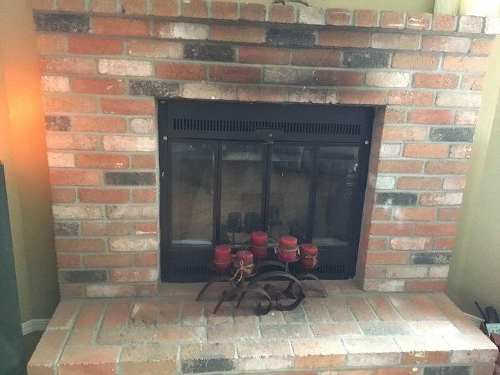 q update red brick fireplace