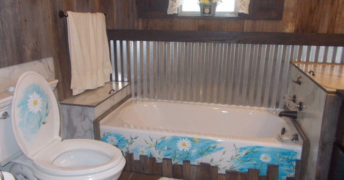 Barnwood Tin Bathroom Renovation