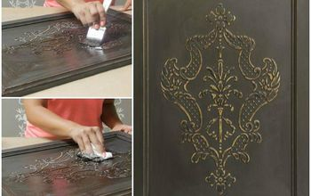 How to Stencil a Carved Wood Look on Cabinets With Wood Icing