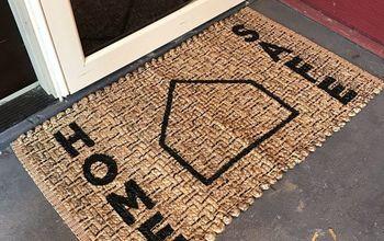 baseball themed fall doormat