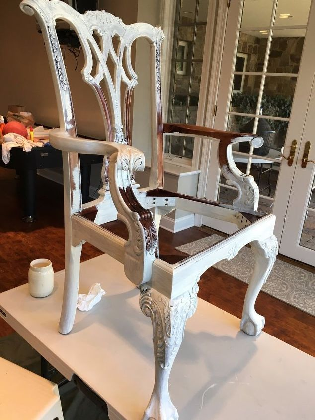q i am painting over my dining room chippendale wood chairs