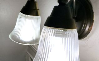 how to spray paint light fixtures