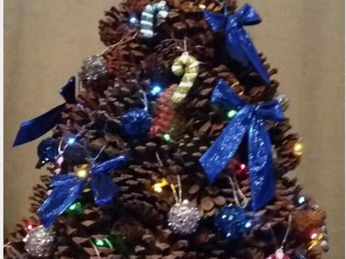 wow your guests with a pine cone tree