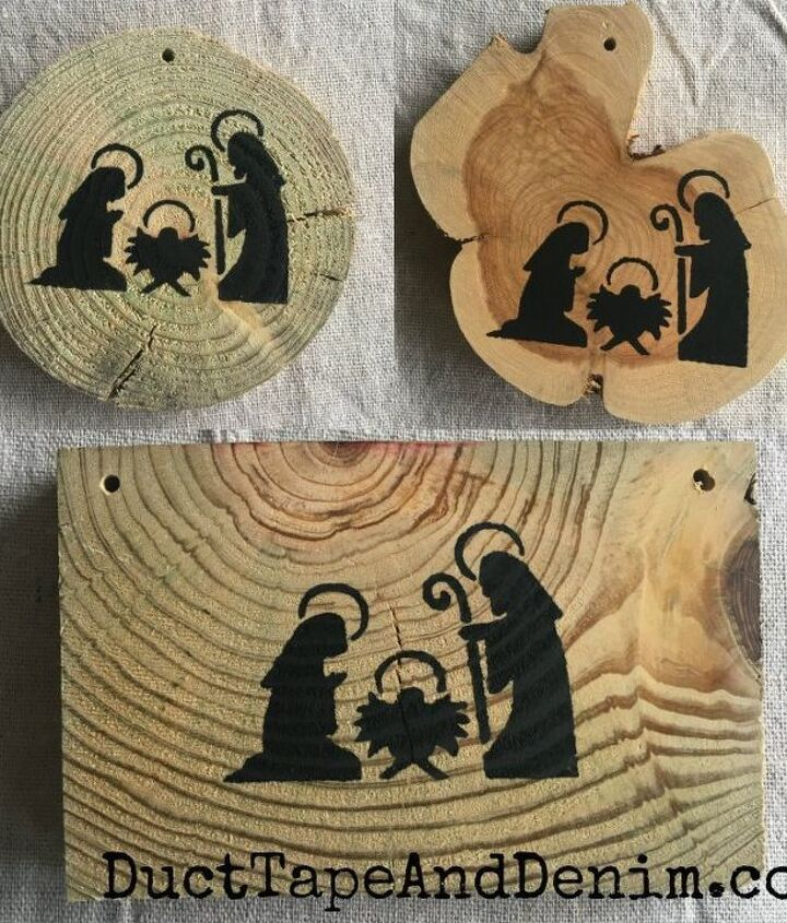 how to stencil nativity ornaments for christmas
