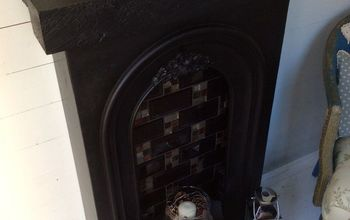 fire surround for a she shed