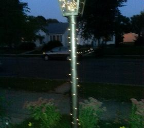 I Used Solar Fairy Lights On My Gas Lamp Post Since I Will Not Turn On The  Gas.