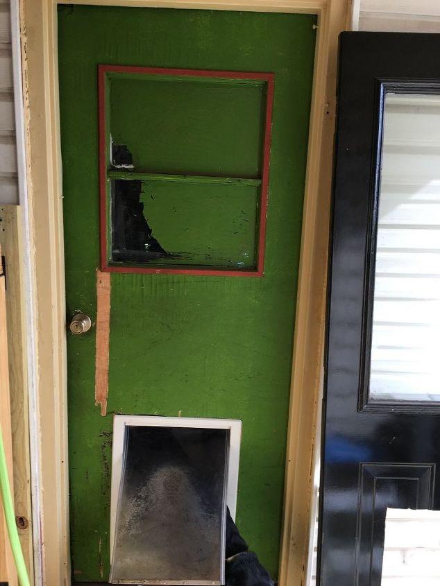 q bought new metal door love it won t fit in metal frame help