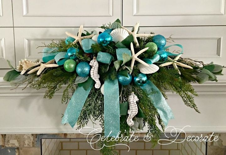 coastal christmas mantelpiece tutorial