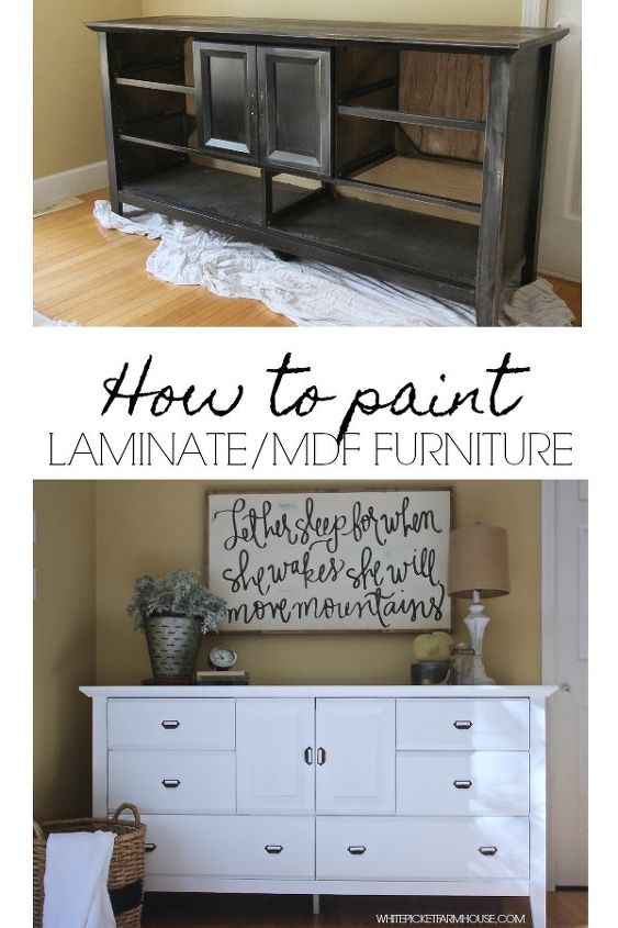 how to paint laminate mdf furniture hometalk. Black Bedroom Furniture Sets. Home Design Ideas