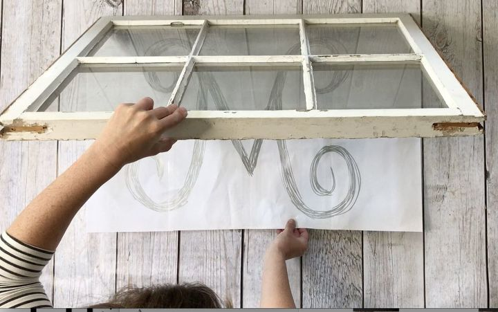 s 3 ways to turn ordinary items into pottery barn style home decor, Step 5 Slide paper under window