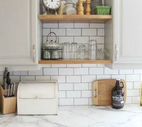 How To Add Modern Open Shelves Kitchen Update For Way Less Cash