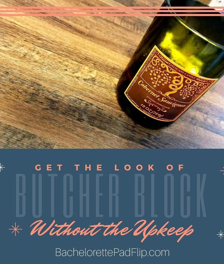 t tip how you can get the look of butcher block without the upkeep