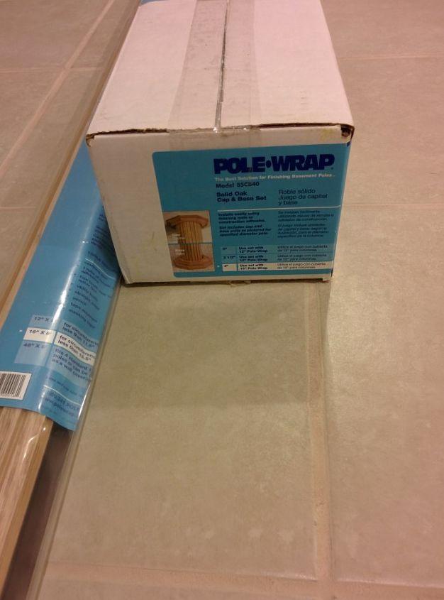 diy basement pole covers