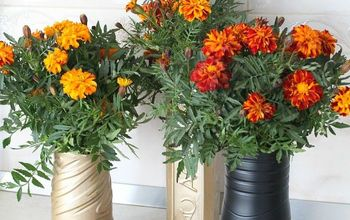 DIY Recycled Flower Vase With Plastic Bottle