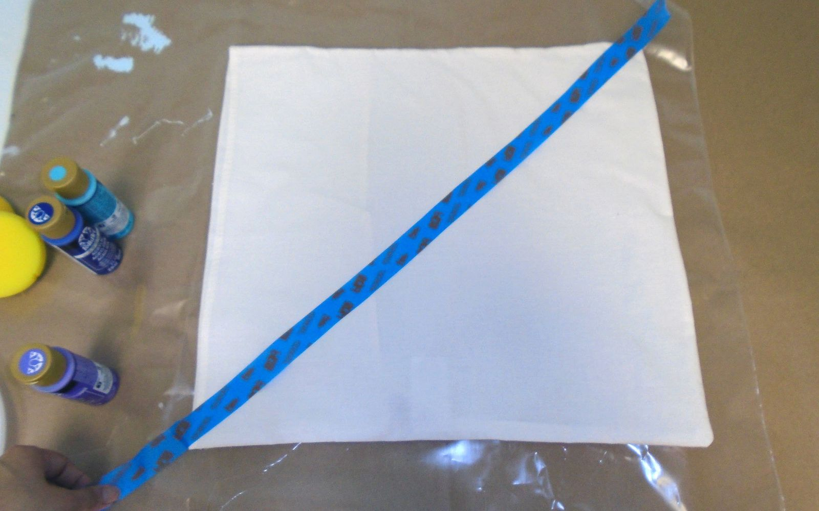 s 3 easy ways to upgrade your pillows to a high end look, Step 3 Make a pattern with painter s tape