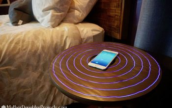 DIY Wireless Charging Neon Nightstand