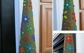 crafting a decorative felt christmas tree