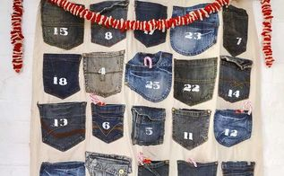 countdown to christmas with a no sew jeans advent calendar