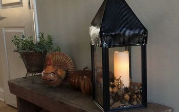 Lantern Made From Dollar Store Finds