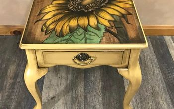 stained art sunflower table