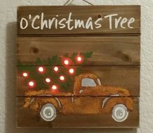rusty truck with tree brings back vintage look