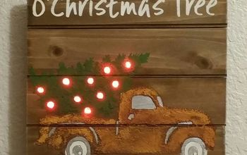rusty truck with tree brings back vintage look
