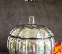 diy pottery barn mercury glass pumpkin knock off
