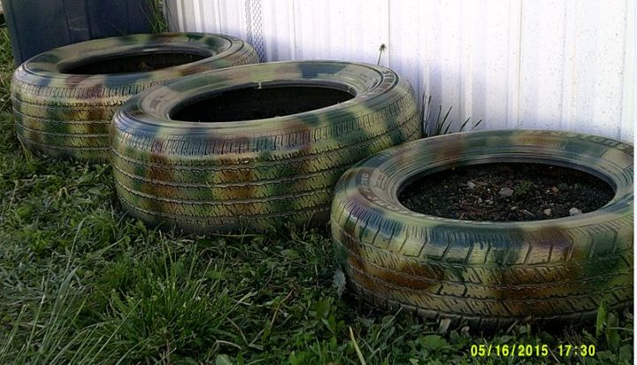 Hidden Tire Planters