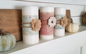 DIY Candle Wraps