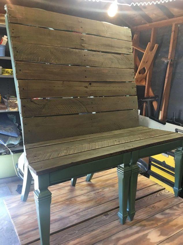 Rustic Double Chair Bench Repurposed | Hometalk