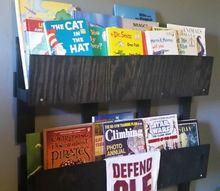 wood pallet wall book shelves