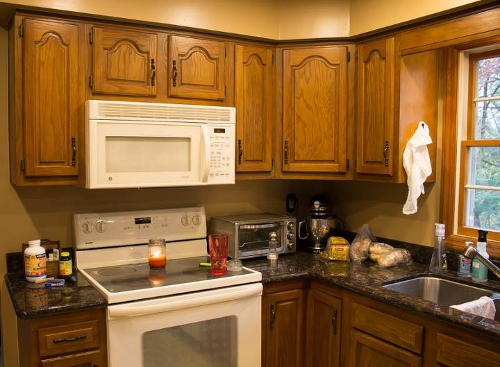 How To Paint Oak Cabinets White Hometalk