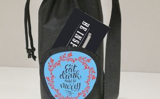 byob upcycled gift bag eat drink and be merry