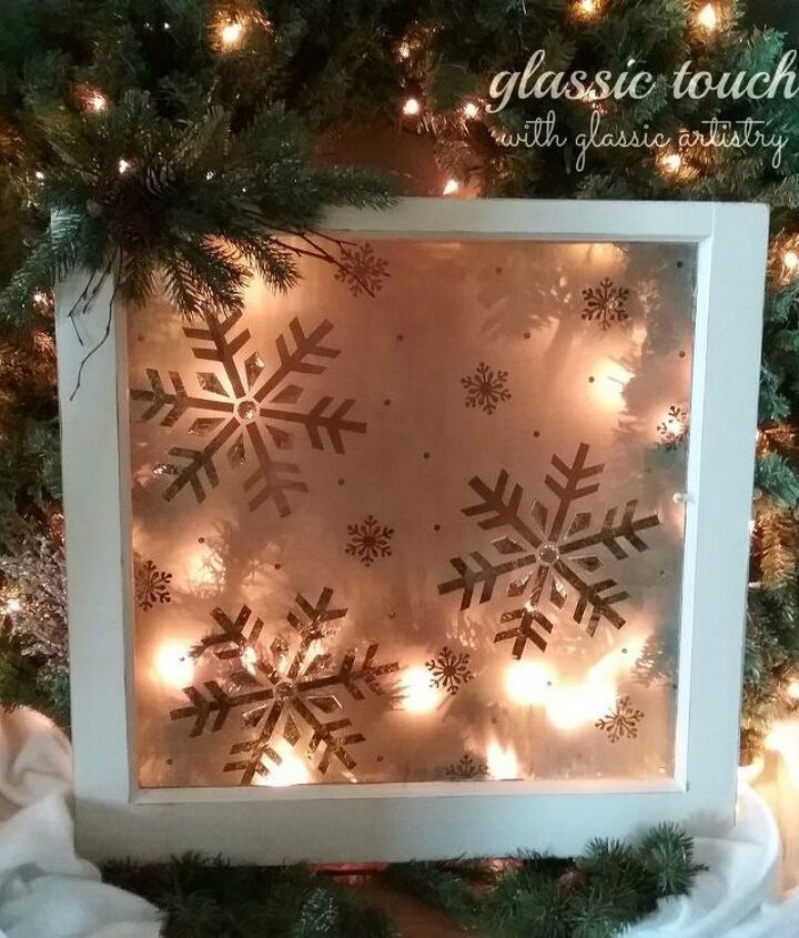 reversed etched christmas window diy christmas crafts recycled window