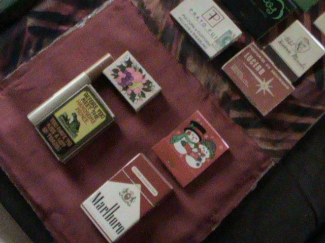how to display old match packs boxes collection