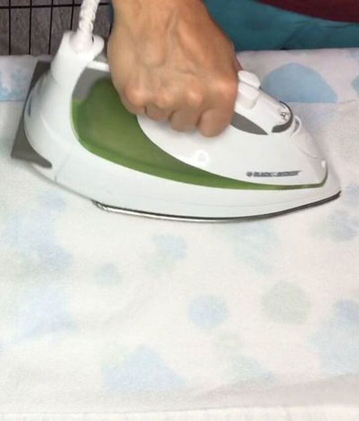 s super cool painting techniques you ve probably never seen, Step 8 Hang to dry iron to seal color