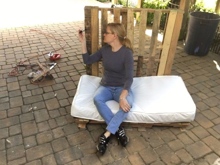 s 3 fantastic step by step ideas what to do with pallets, Step 4 Measure height of the second pallet