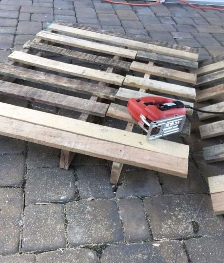 s 3 fantastic step by step ideas what to do with pallets, Step 6 Cut excess wood from second pallet