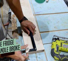 How To Replace A Refrigerator Door Handle Diy, Remove And Trace Door Handle