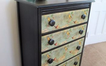 decoupage dresser drawers with napkins