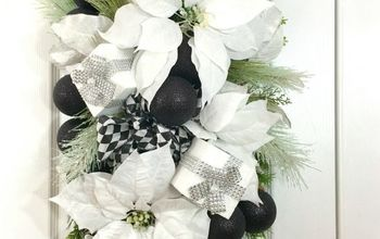 Black and White Winter Swag for Your Front Door!