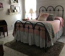 farmhouse style girls bedroom flip