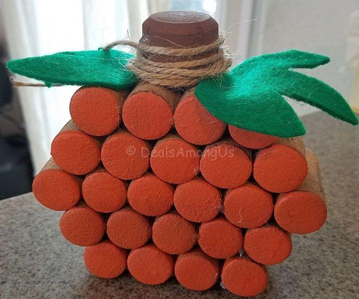 diy wine cork pumpkin